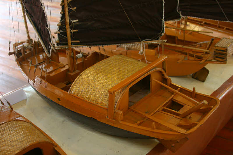 Model of a sailboat from Halong Bay, Vietnam