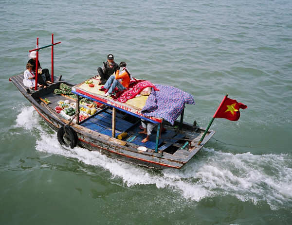 Traditional Square Nosed Boat: Halong Bay