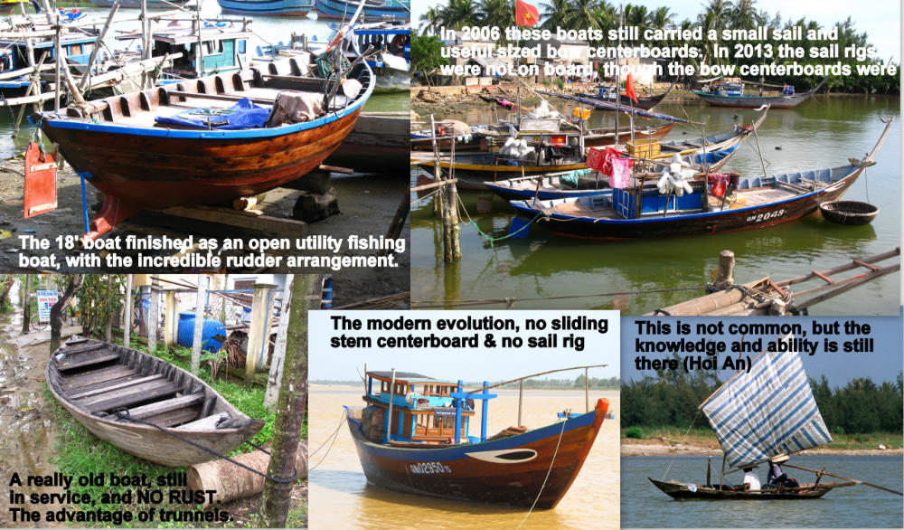 Overall design of Kim Bong Island, Vietnam small to medium sized traditional boats.