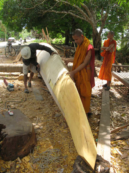 Ritual Racing Canoe: Temple North of Kratie