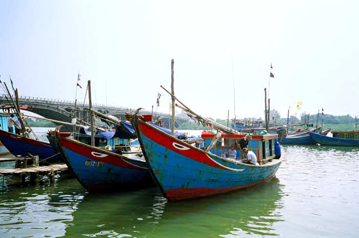 Traditional Boats in Ron, Vietnam