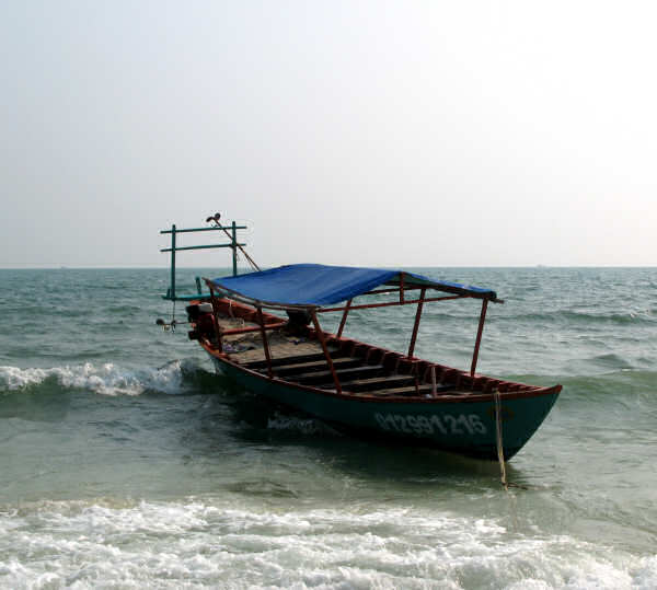 Tourist Boat at Sihanoukville Beach