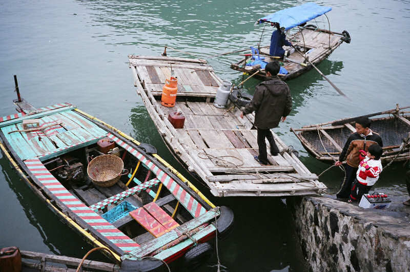 Decked Basket Boat: Halong Bay